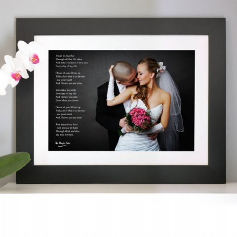 Personalised Photo With Words Or Lyrics Artwork